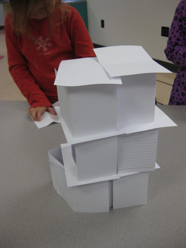 Index Card Tower Challenge At The Albany Branch Library